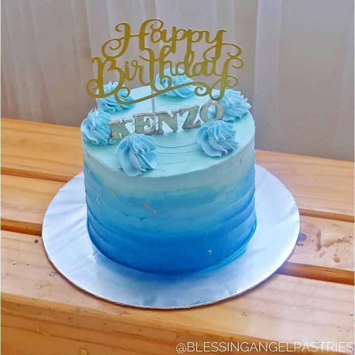 Jual Kue Ulang Tahun Blue Cantik Birthday Cake Biru Enak Lembut Kota Tangerang Blessing Angel Tokopedia