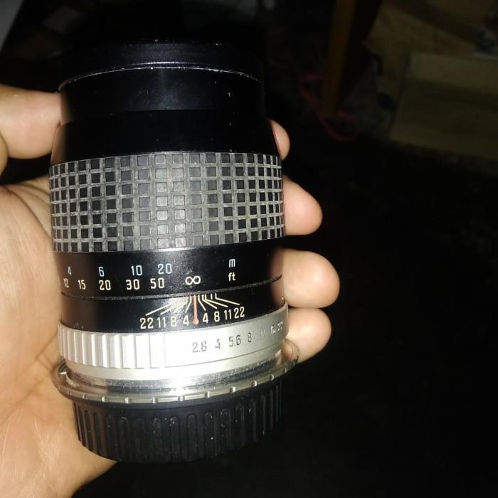 Foto Produk Lensa Fix Jadul Hoya 135mm f 2.8 - Lens mount dslr canon dari Fian Bagus