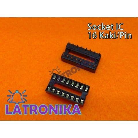 Foto Produk Socket Ic 16p 16 P Soket Ic 16pin 16 Pin Adapter 2x8 DIP dari Latronika