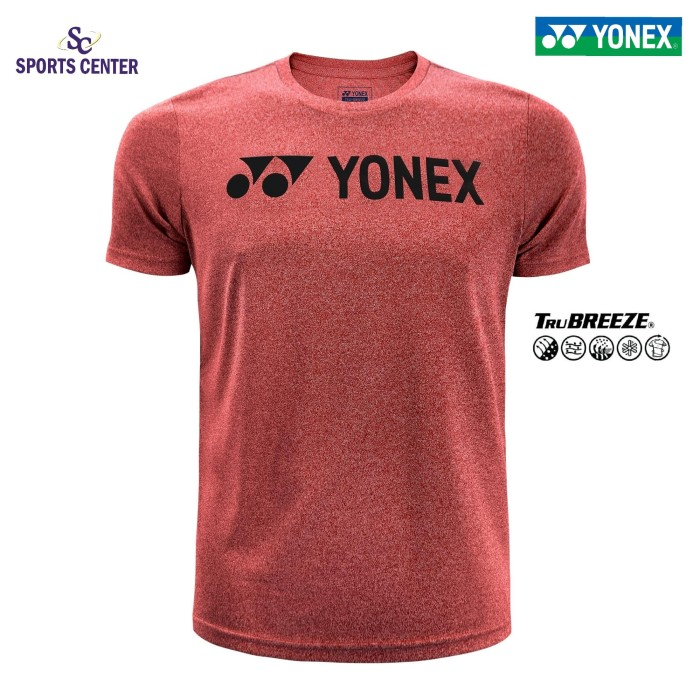 harga Kaos / jersey yonex melange tru breeze comfort wear fiery red Tokopedia.com