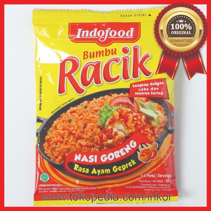 Jual Indofood Bumbu Racik Nasi Goreng Rasa Ayam Geprek Sachet 20gr Kab Tangerang Inko Tokopedia