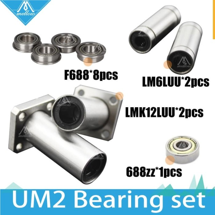 1Pcs LMK12LUU 12mm Long Square Flanged Linear Motion Bearing For UM2 3D Printer