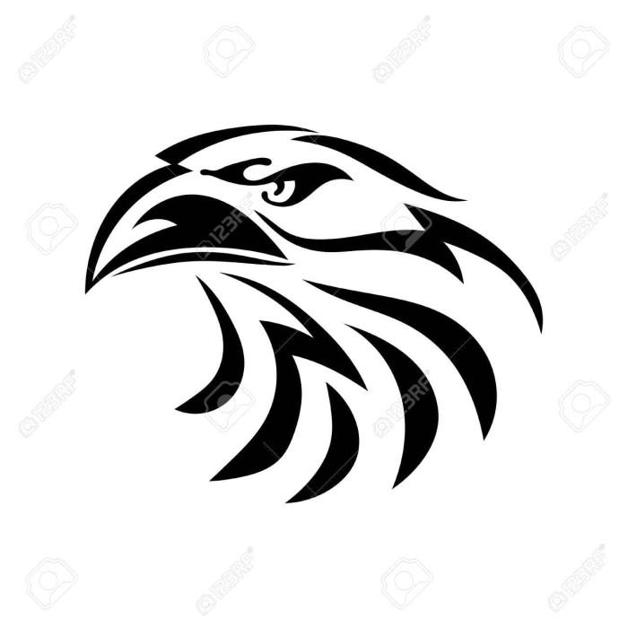 Gambar Logo Kepala Elang Hitam Putih Jual Sticker Cutting Elang Keren 13 Kota Yogyakarta Proskin Tokopedia