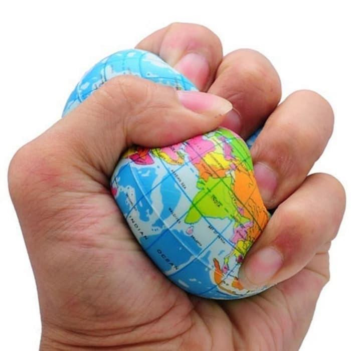 Foto Produk mainan squeeze peta bola dunia globe remas antistress squishy pantul dari Baruch
