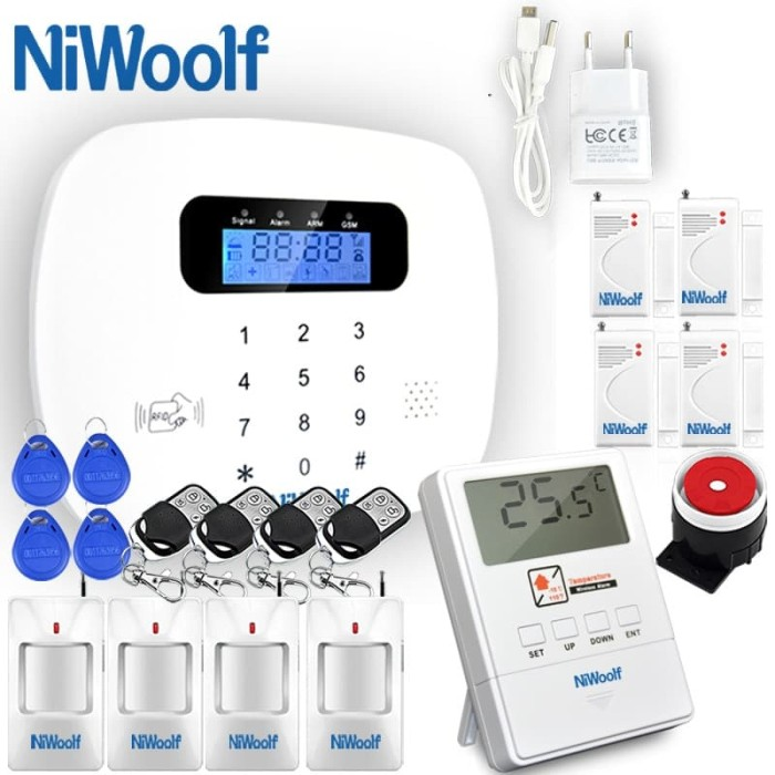 ⟦NEW⟧ Wired /& Wireless GSM Home Burglar Security Alarm System 433MHz English