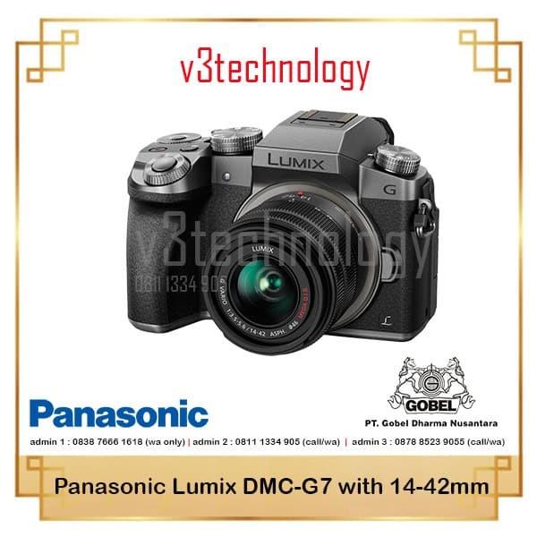 harga Panasonic lumix dmc-g7 with 14-42mm f/3.5-5.6 ois Tokopedia.com