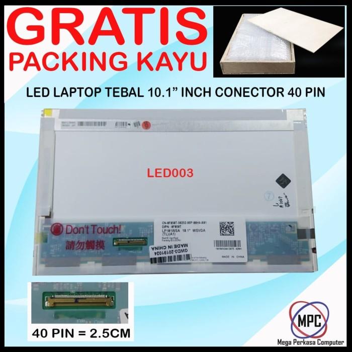 Foto Produk LCD LED Notebook Laptop Tebal 10.1 Inch Conector 40 Pin Packing Kayu dari Mega Perkasa Computer