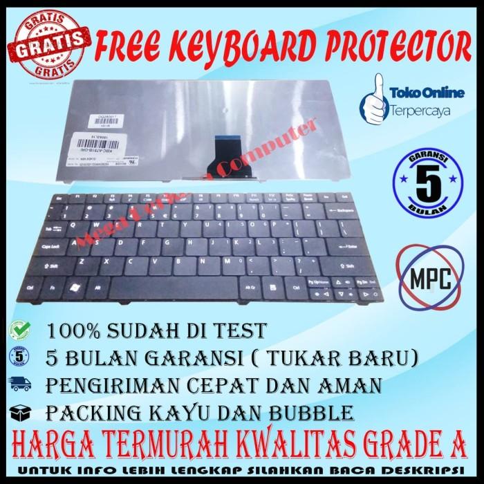 Foto Produk Keyboard Laptop ACER Aspire One 721 722 753 Series Hitam Packing Kayu dari Mega Perkasa Computer