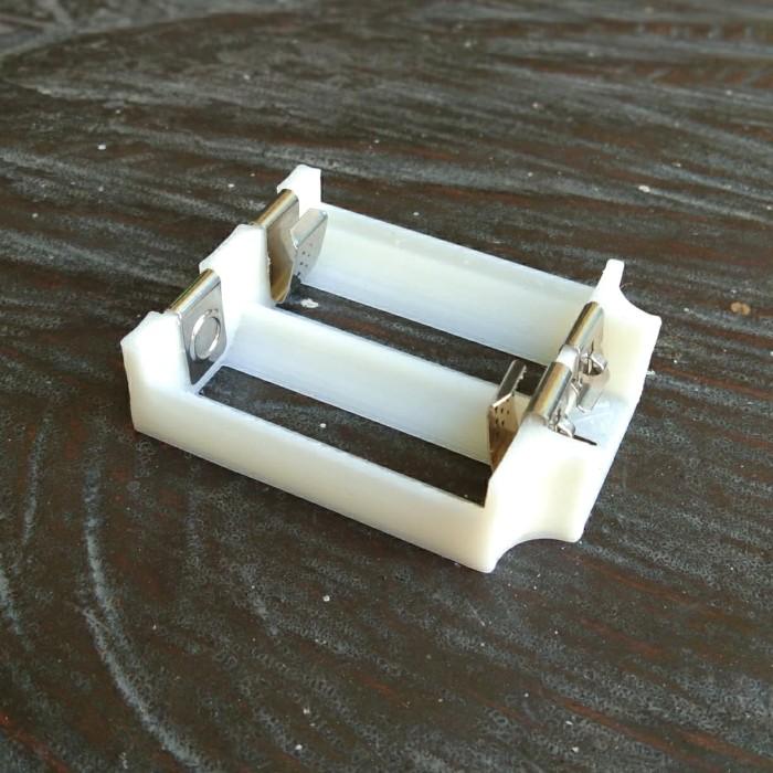 Foto Produk holder baterai 2 x 18350 3D ABS bukan PLA dari versus box mod supply