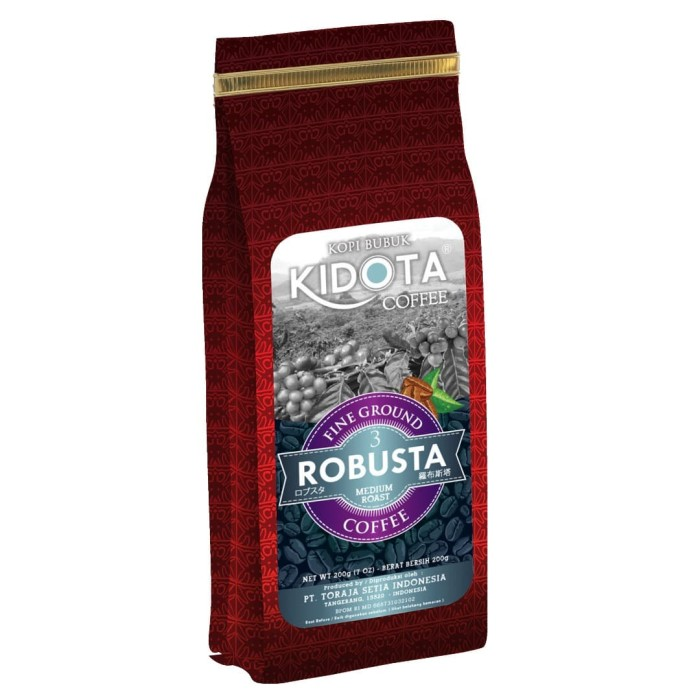 harga Kopi kidota robusta 200 gram fine ground (bubuk halus) Tokopedia.com
