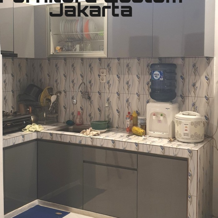 Jual Kitchen Set Lemari Dapur Minimalis Custom Multiplek Hpl Jakarta Barat Furniture Custom Jakarta Tokopedia
