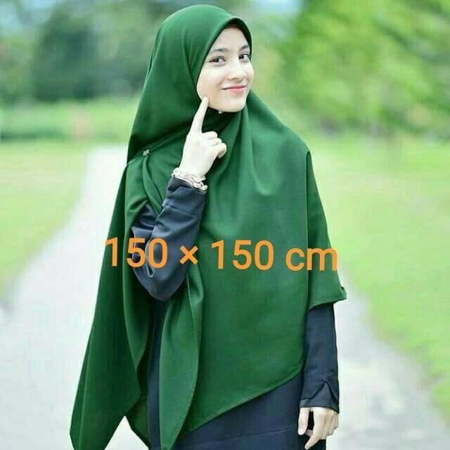 Jual Hijab Segi Empat Jumbo Syari Wolfis Halus Jakarta Barat Super65 Tokopedia