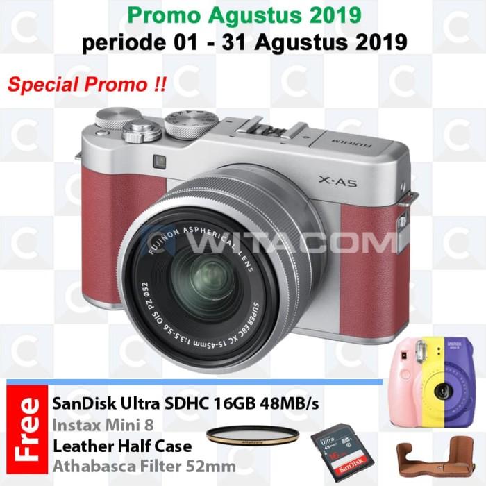 harga Fujifilm x-a5 kit xc15-45mm f/3.5-5.6 ois pz - pink / xa5 Tokopedia.com