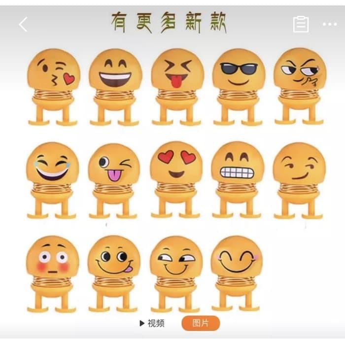 Foto Produk Pajangan Dashboard Mobil Smile Goyang - Emoticon Smile Gerak Emoticon dari Stofer Shop