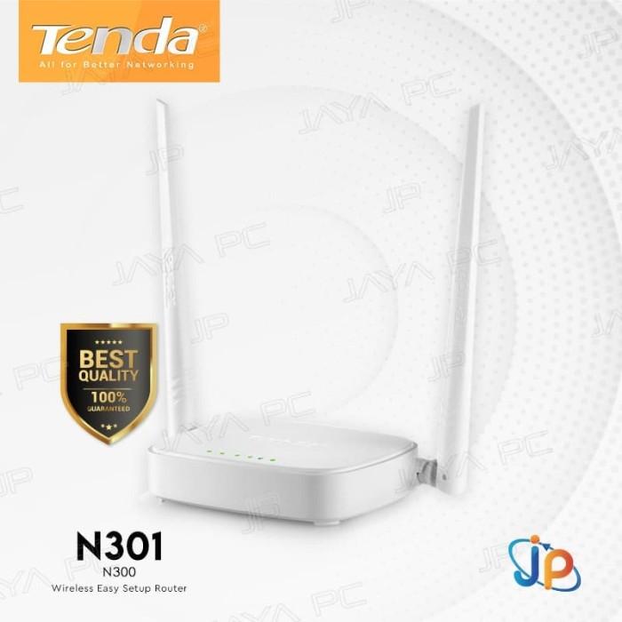 Foto Produk Tenda N301 N300 WiFi Wireless Router Extender 300Mbps Easy Setup dari Jaya PC