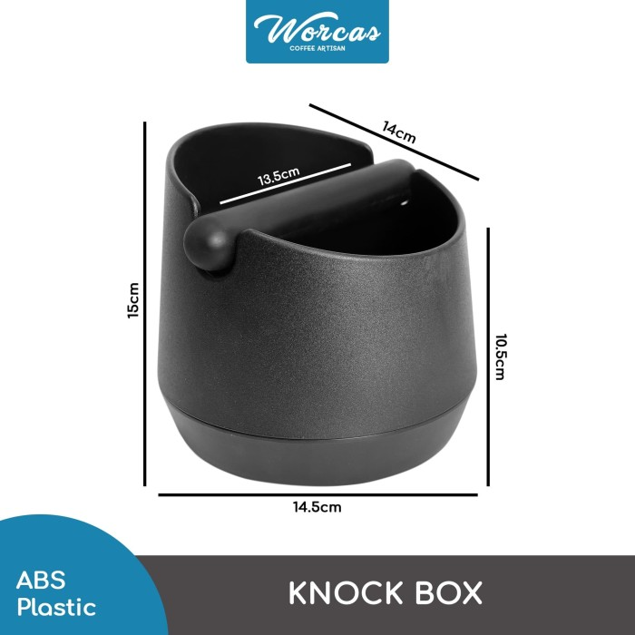 harga Knock box circle 15cm plastic - black Tokopedia.com