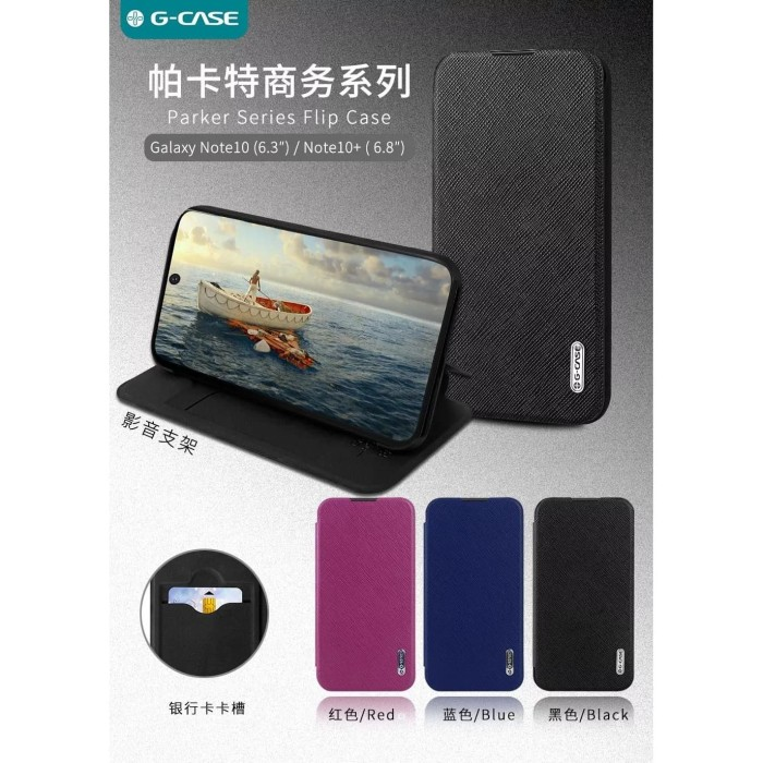 harga Samsung galaxy note 10 plus g-case parker ori flip cover hard case Tokopedia.com