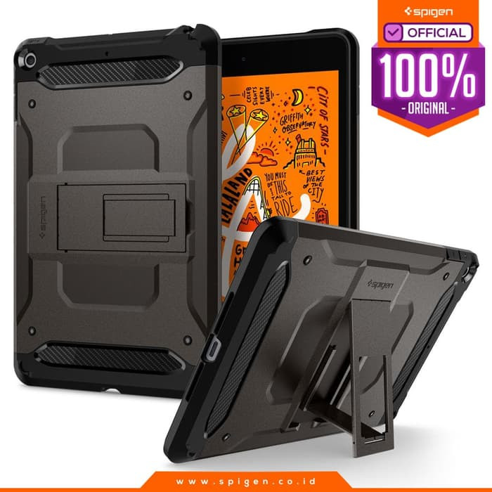 harga Case ipad mini 5 2019 spigen tough armor tech with stand casing - gunmetal Tokopedia.com