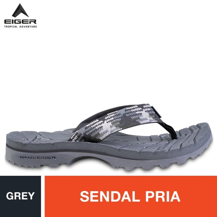 Foto Produk Eiger Kinkajou Pinch 1.0 Sol Dark Grey Pattern Sandals - Grey - Abu-abu, 45 dari Eigerindo Store