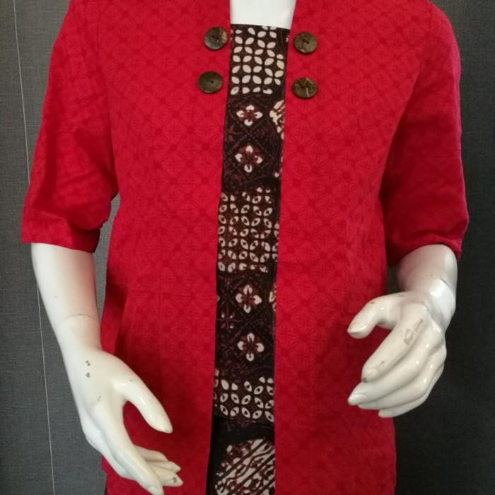 Foto Produk Blouse Polos Kombinasi Namanda warna Kuning - Merah dari Namanda Batik
