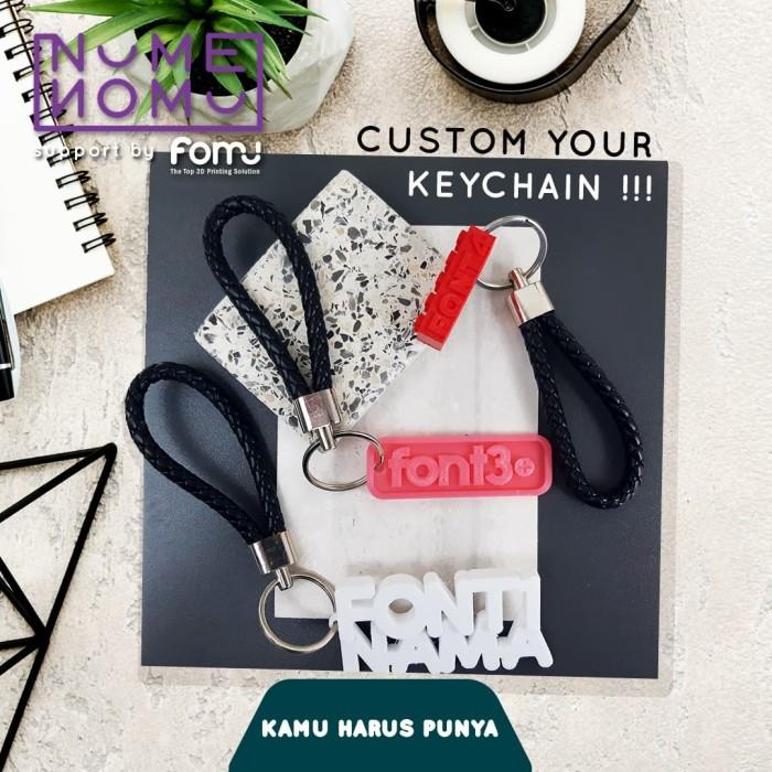 Foto Produk gantungan kunci custom + gantungan bahan kulit dari fomu