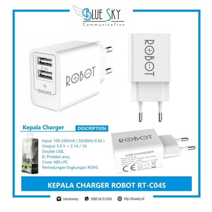 Foto Produk KEPALA CHARGER ROBOT RT-C04S dari Blue Sky Communication