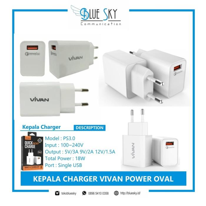 Foto Produk KEPALA CHARGER VIVAN PS3.0 dari Blue Sky Communication