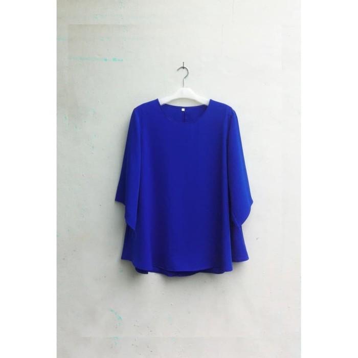 Foto Produk Blouse Wanita Big Size 4L Warna Biru Benhur (Self Manufactured) dari Big Size Fezen