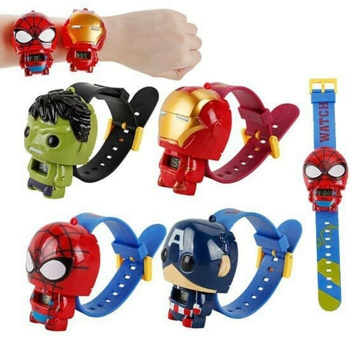 Foto Produk jam Tangan Anak Karakter Avengers Batman Spiderman ironman hulk WATCH - JAMHULK dari Three Acc