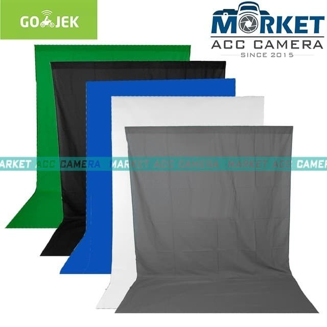 Jual Backdrop/Background Foto Studio Screen 2x3m (Blue