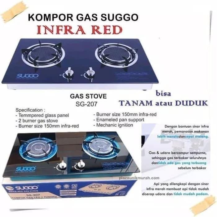 harga Kompor kaca 2 tungku infrared suggo sg-207 kompor gas lpg infra red Tokopedia.com