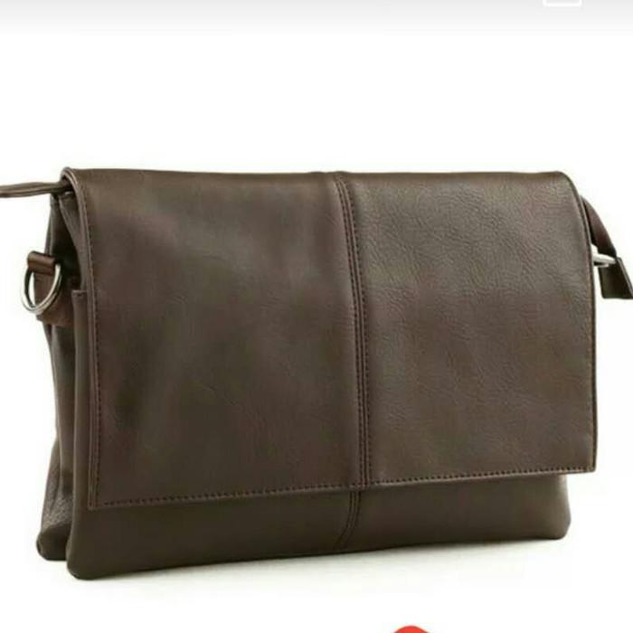 Foto Produk Tas Selempang Kulit Pria / Tas Pria / Tas Slempang (TANGO COKELAT) dari Leather Concept
