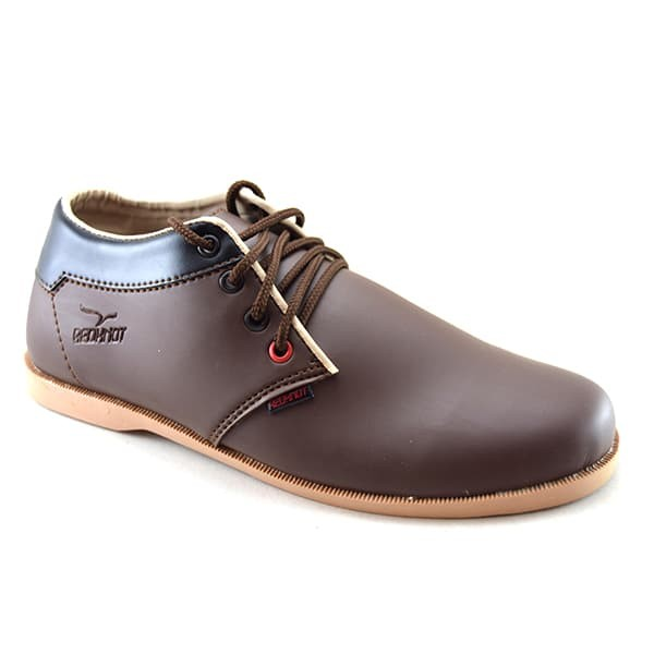 harga Sepatu kulit casual pria murah keren bonus sandal - redknot nath brown Tokopedia.com