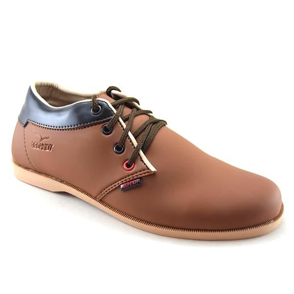 harga Sepatu kulit casual pria murah keren bonus sandal - redknot nath tan Tokopedia.com