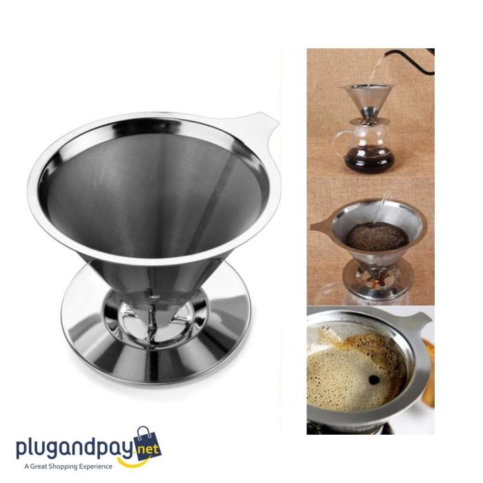 Foto Produk Double Layer Cone Coffee Filter Dripper Kopi Drip - plugandpay dari plugandpay