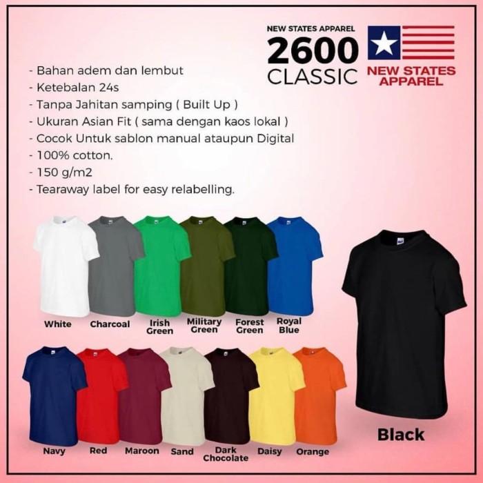 Foto Produk Tshirt New States Apparel Classic ( NSA classic) dari minnie shopa