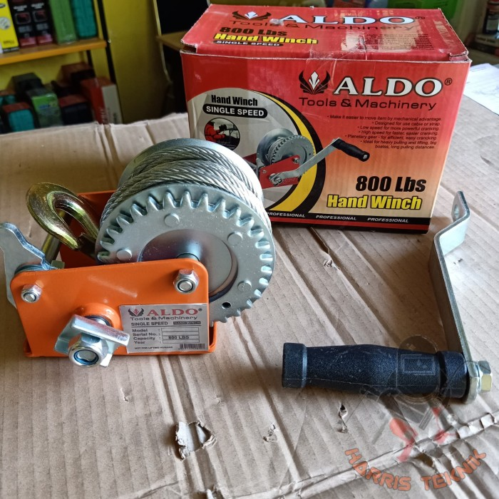 harga Hand winch with wire rope single gear wipro wsr - 055 Tokopedia.com