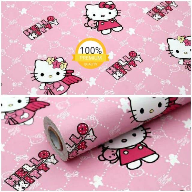 Jual Wallpaper Dinding Paling Murah Ruangan Kamar Tidur Anak Hello Kitty Jakarta Selatan Serbasukses Store Tokopedia