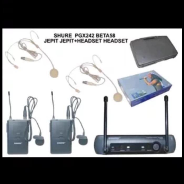 harga Mic wireless shure pgx 242 ( clip on + headset ) Tokopedia.com