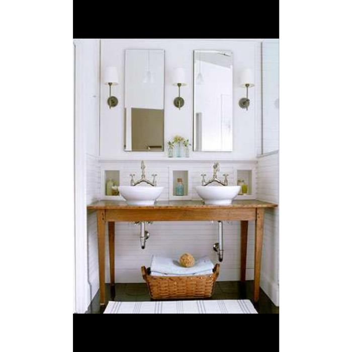 Jual Bathroom Sink Table Meja Wastafel Dari Kayu Pallet Kota