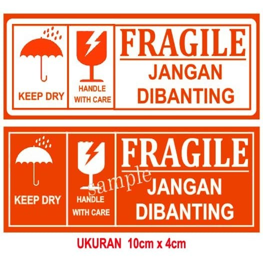 Foto Produk STICKER LABEL FRAGILE / STICKER OLSHOP LABEL GROSIR MINIMAL 50 PCS dari SMART EDUMEDIA