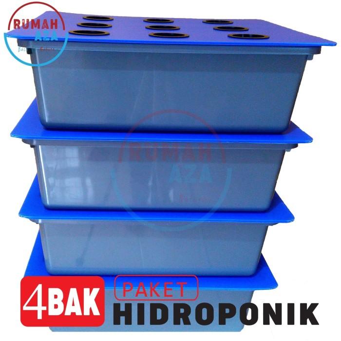 Foto Produk Paket Hidroponik Sistem Wick 4 Bak (36 lubang) - Paket Ekonomis dari rumah_aza