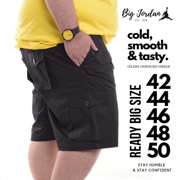 harga Celana pendek cargo big size 52 50 48 46 celana kargo jumbo pdl hitam Tokopedia.com