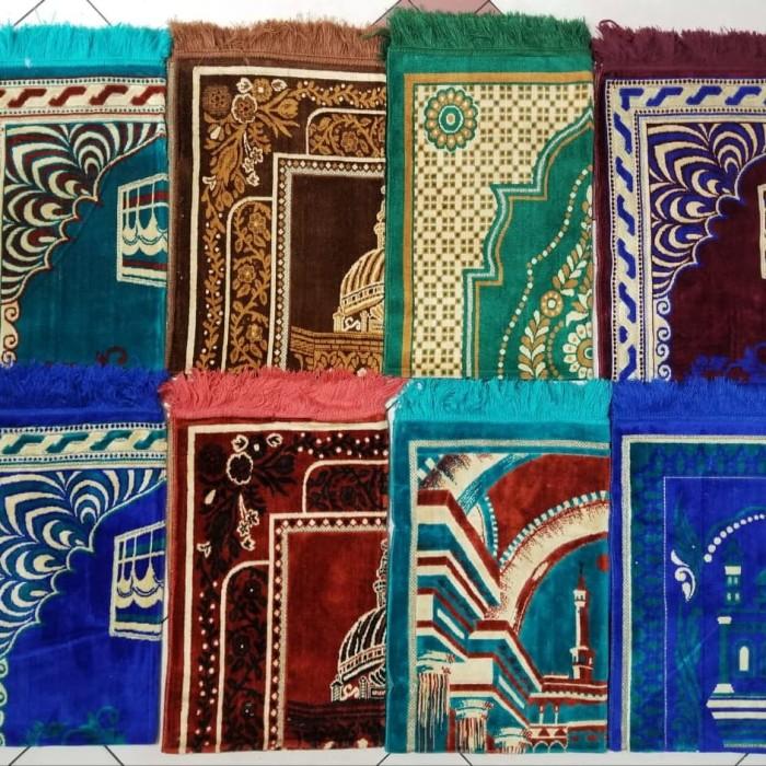 Foto Produk sajadah izmir/sajadah bludru motif timbul dari toko grosir barokah