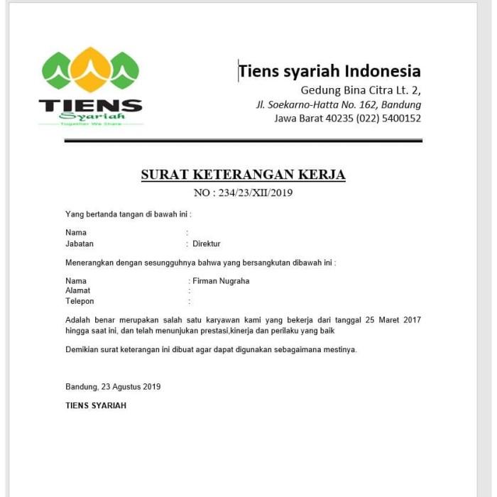 Jual Cetak Surat Paklaringpengalaman Kerja Dki Jakarta Clashers Store Tokopedia