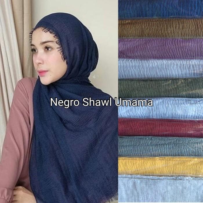 Jual Pashmina Negro Shawl Umama Kab Cirebon Teti Lenje Homeshop Tokopedia