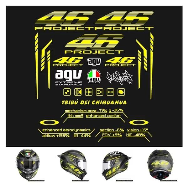 Jual Stiker Helm Full Face Agv 46 Pista 46 Project Stiker Helm 2 0 Kota Semarang Oj Stor Tokopedia