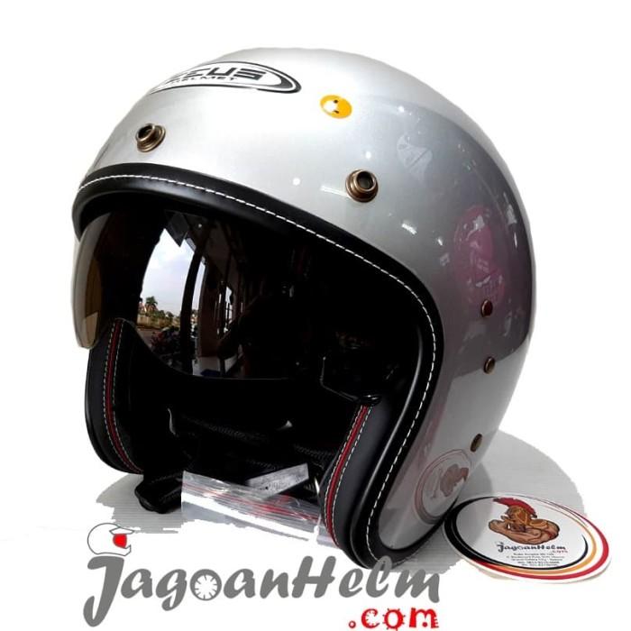 harga Zeus helm zs380fa   silver   zs 380fa retro Tokopedia.com