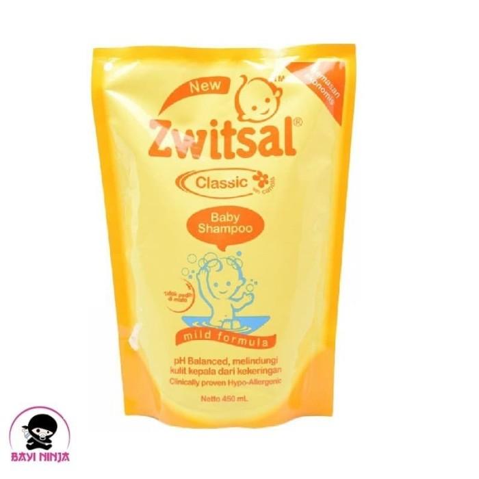 harga Zwitsal baby shampo classic refill pouch 450 ml Tokopedia.com