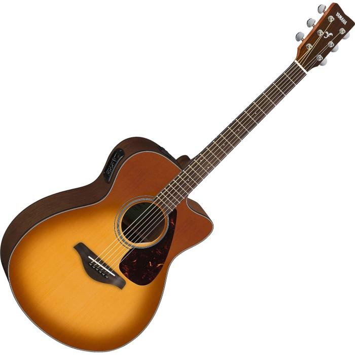 Jual Yamaha FSX800C Small Body Solid Top Cutaway Acoustic-Elec ...